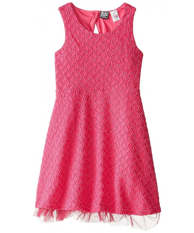 Pogo Club Rose Textured Knit Dress