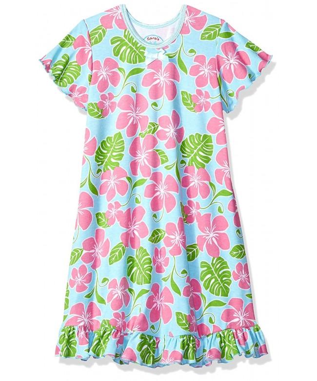 Saras Prints Girls Sleeve Nightgown