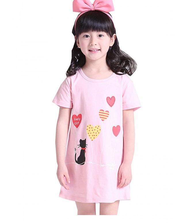 MZLIU Little Summer Sleepwear Nightgown