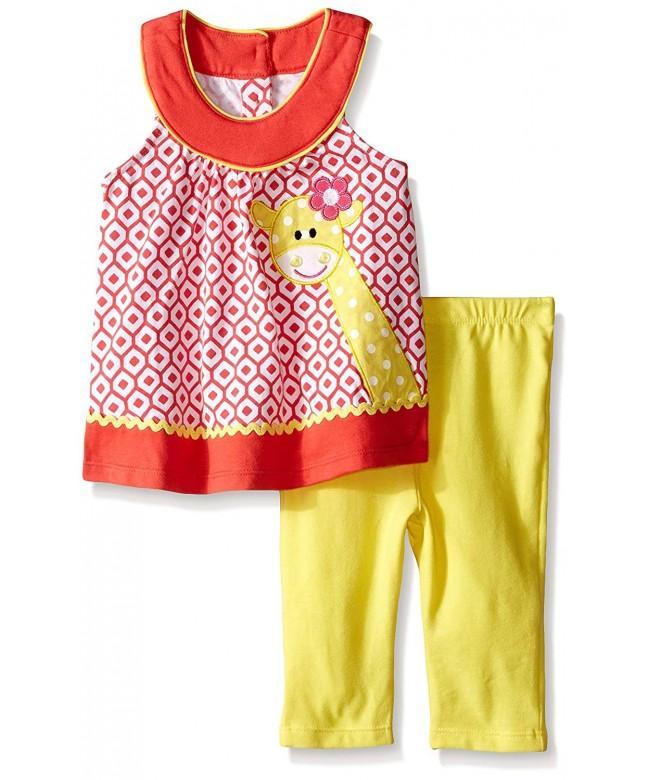 Kids Headquarters Printed Giraffe Yellow