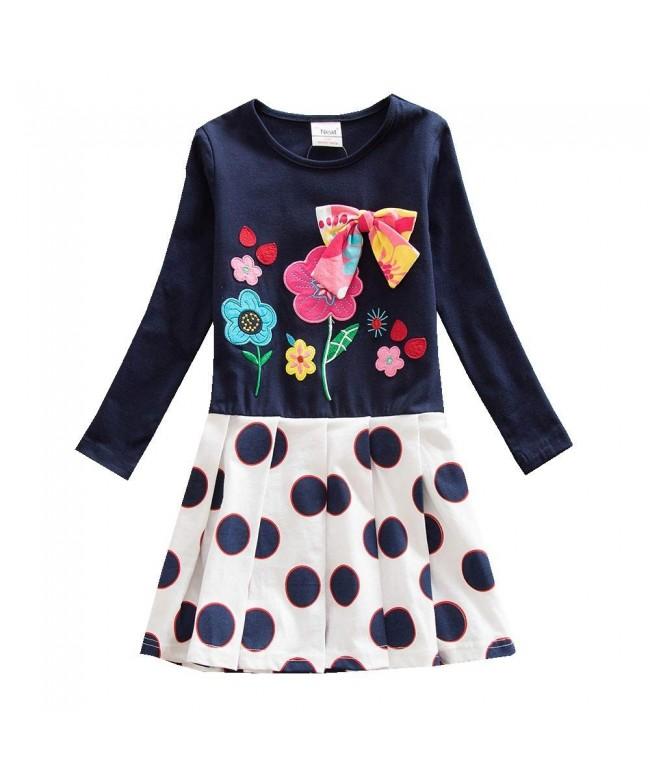 JUXINSU Toddler Cotton Sleeve Dresses