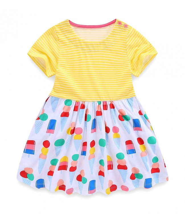 AuroraBaby Twirly Striped Toddler Dresses