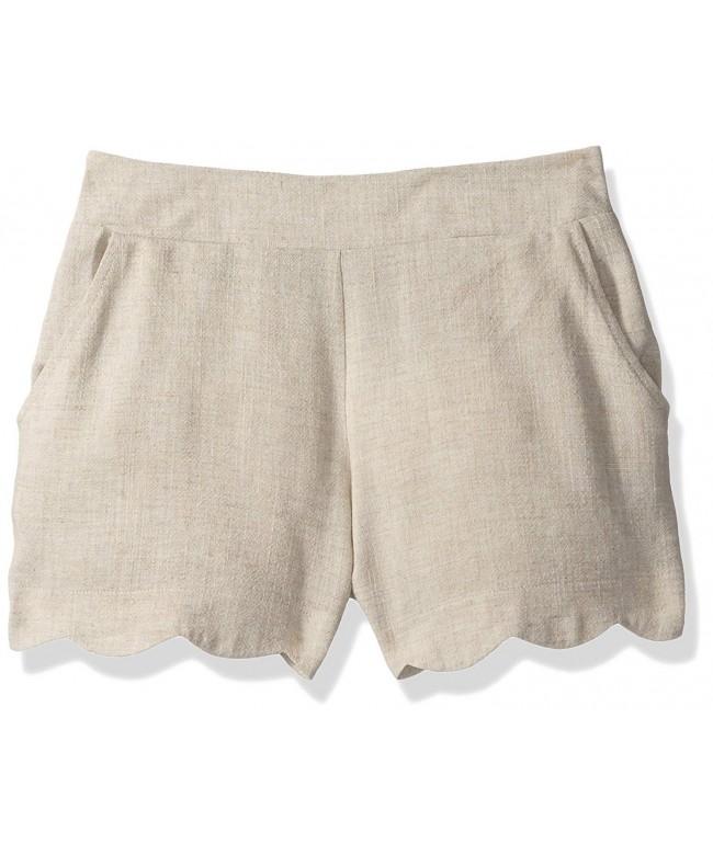 Amy Byer Girls Scallop Linen