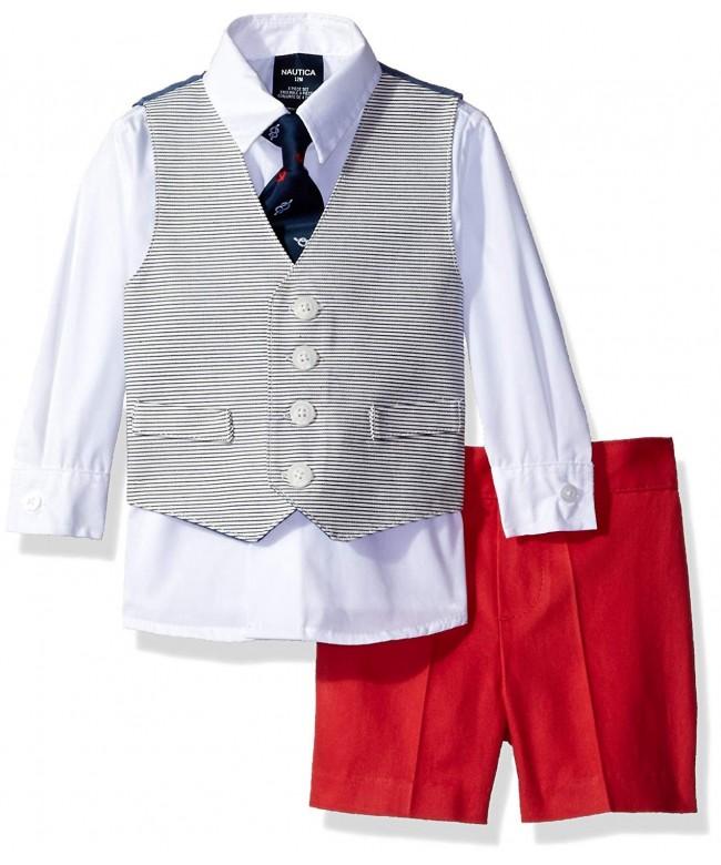 Nautica 4 Piece Dress Shirt Shorts