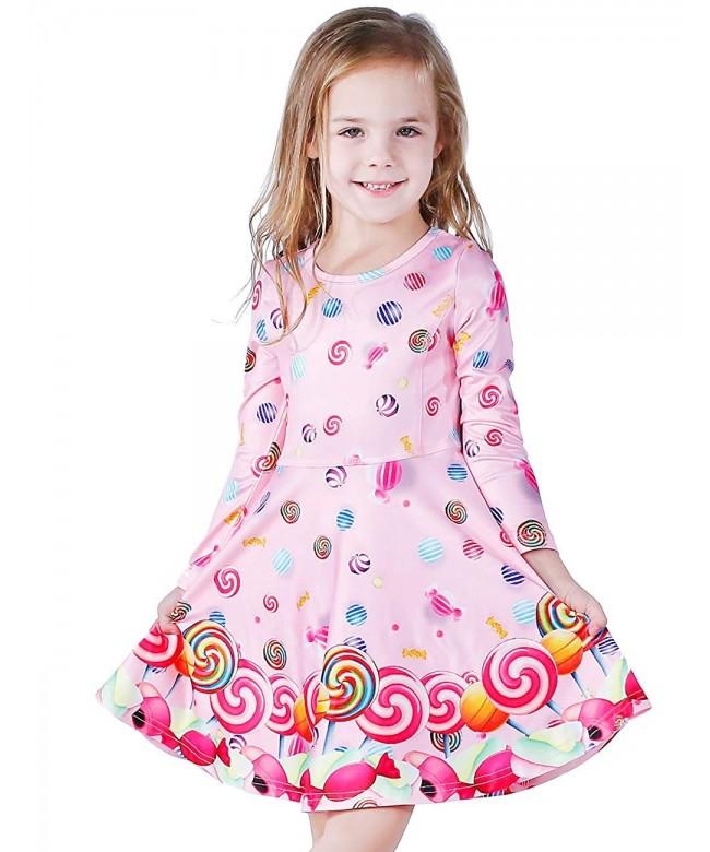 Sleeveless Toddler Unicorn Mermaid Dresses