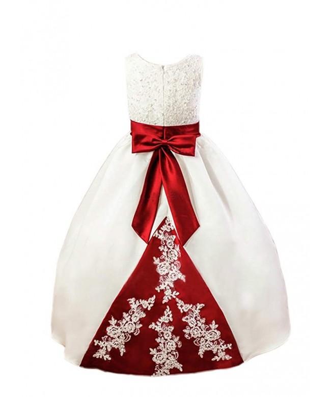 Vintage Girl Dresses Bridesmaid Applique
