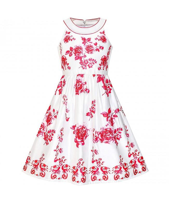 Sunny Fashion Flower Halter Princess