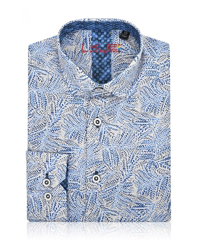 Ike Behar Print Sleeve Button