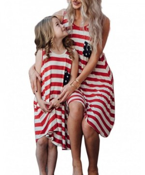 BANGELY Family Matching Striped Sundress