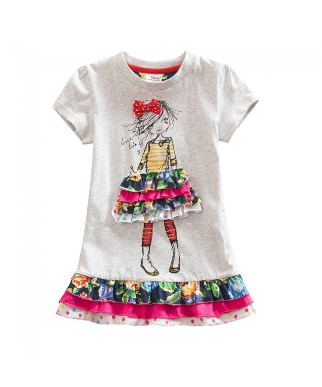 JUXINSU Sleeve Summer Cartoon Embroidery