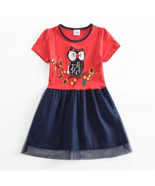 JUXINSU Sleeve Summer Cartoon Embroidery