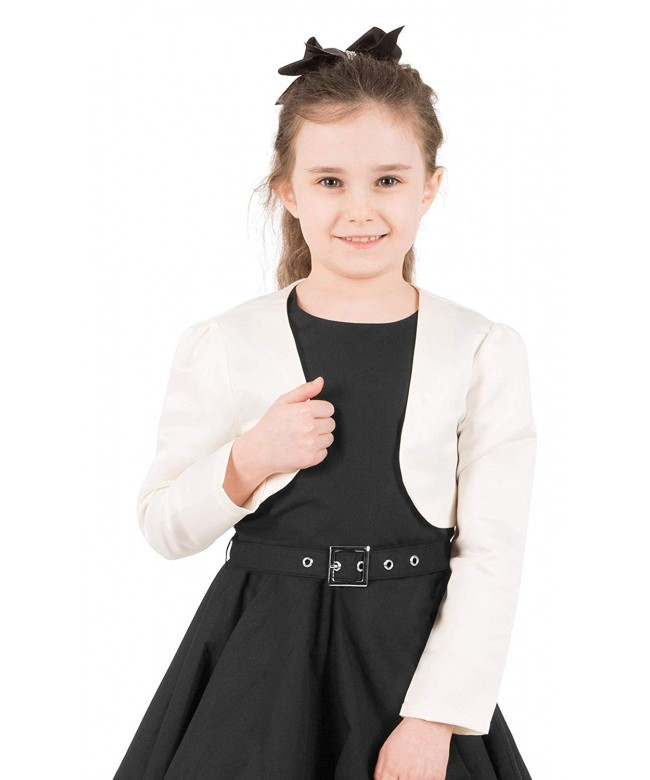 BlackButterfly Satin Sleeve Bolero Childrens