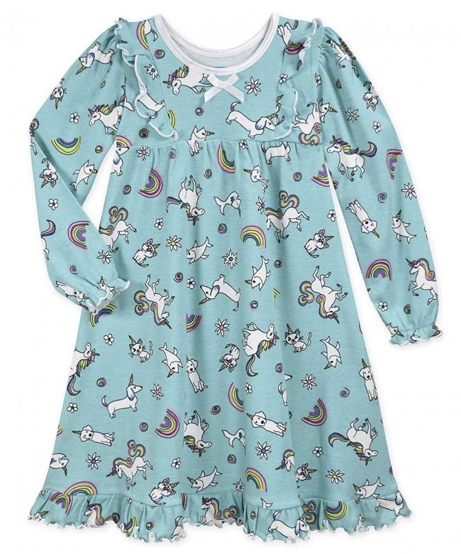 Saras Prints Girls Ruffle Nightgown
