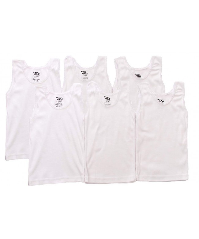 Girls Sleeveless Undershirts Cotton Shirt