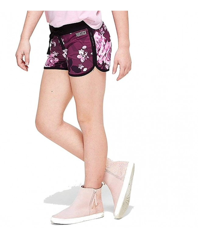 Justice Dolphin Shorts Floral Ruby