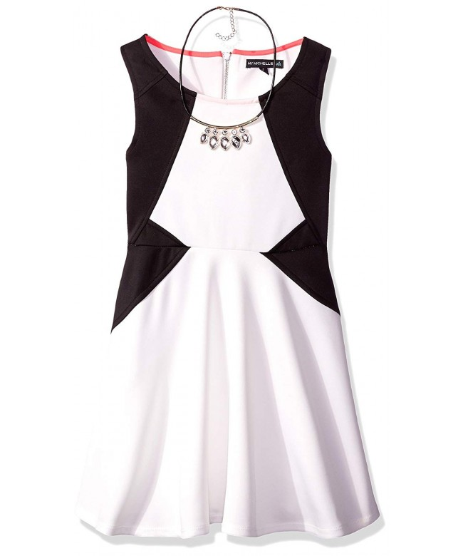 My Michelle Sleeveless Colorblock Necklace