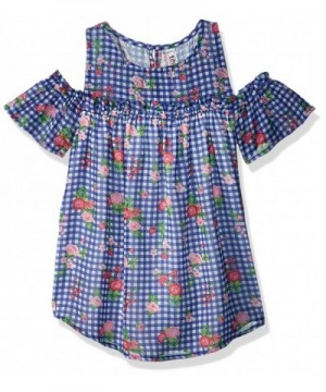 Beautees Girls Cold Shoulder Printed