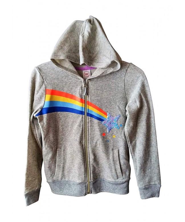 Girls Hoodie Rainbow Flippy Sequins