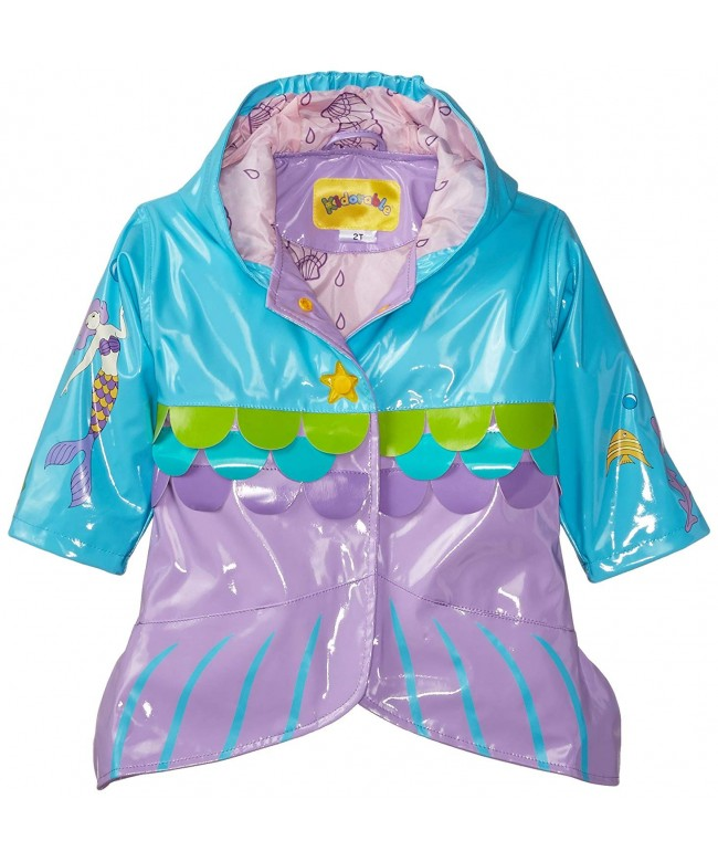 Kidorable Mermaid All Weather Raincoat Buttons