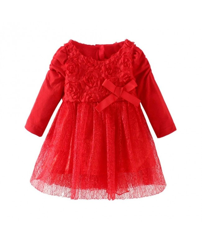 LittleSpring Girls Party Dresses Flowers