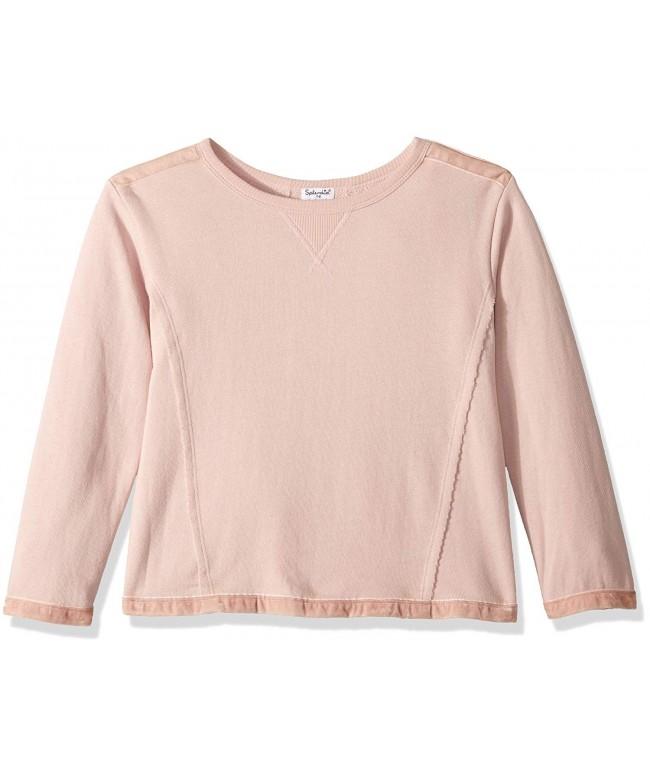 Splendid Girls Velvet Mixed Sweatshirt