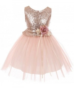 Dreamer Sequins Glitter Floral Pageant