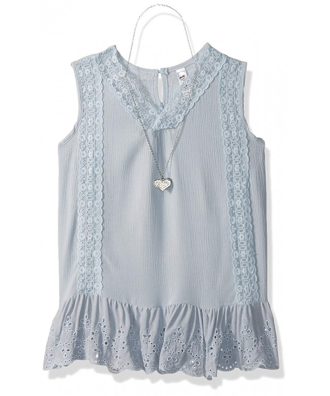 Beautees Girls Solid Sleeveless Lace