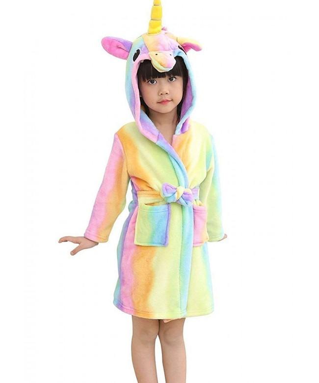 Mobarta Unicorn Sleepwear Pajamas Bathrobe