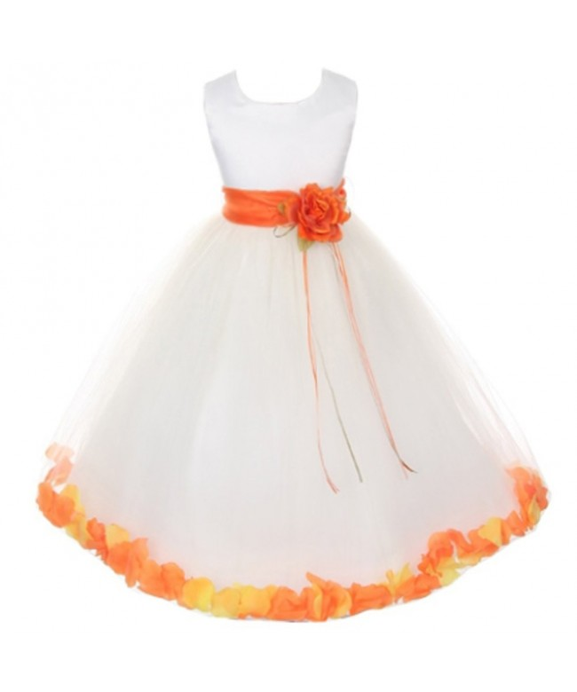 Bodice Floating Flower Petals Double