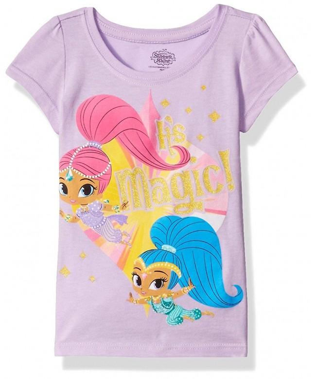 Shimmer Shine Girls Sleeve T Shirt