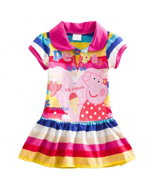 YUTING Little Girls Summer Rainbow