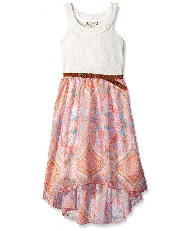 Speechless Girls Neck Chiffon Dress