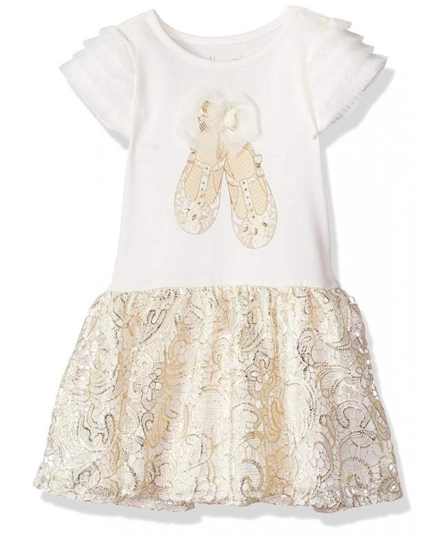 Nannette Girls Dress Applique Bodice