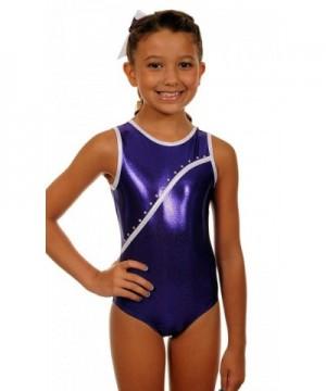 TumbleWear Little Leotard Purple Rhinestone Child