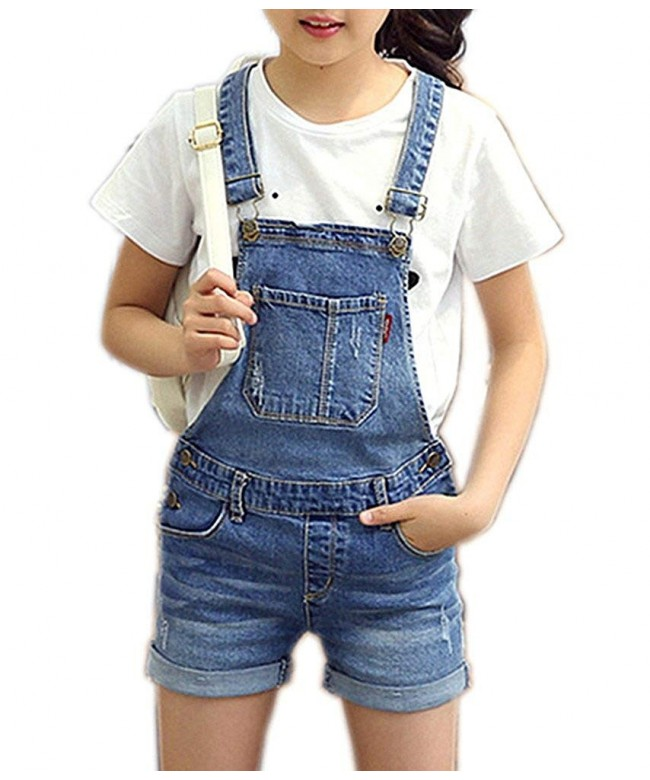 Sitmptol Little Distressed Suspender Overalls