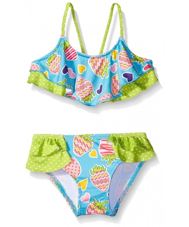 Pink Platinum Flounce Bikini Swimsuit