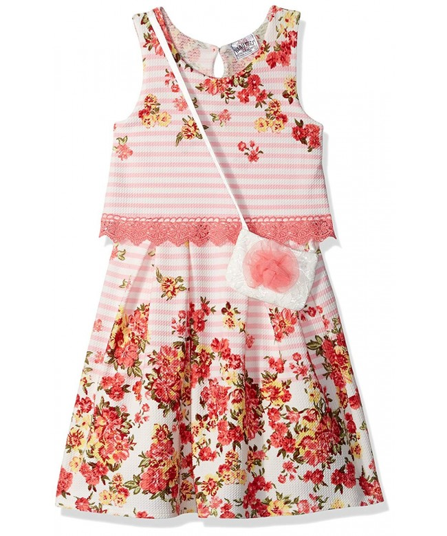 Beautees Girls Sleeveless Floral Print