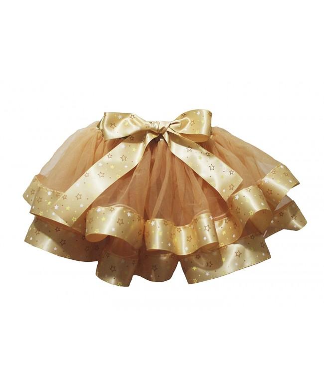 Petitebella Petal Skirt Stars Ribbon
