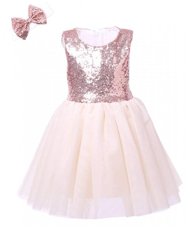 Cilucu Dresses Birthday Toddlers Sleeveless