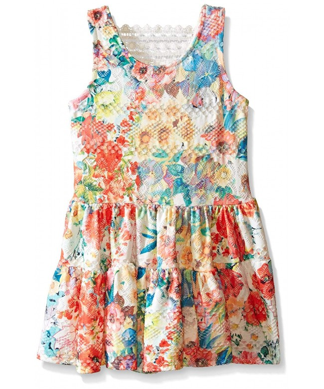 Rare Editions Girls Floral Eyelet