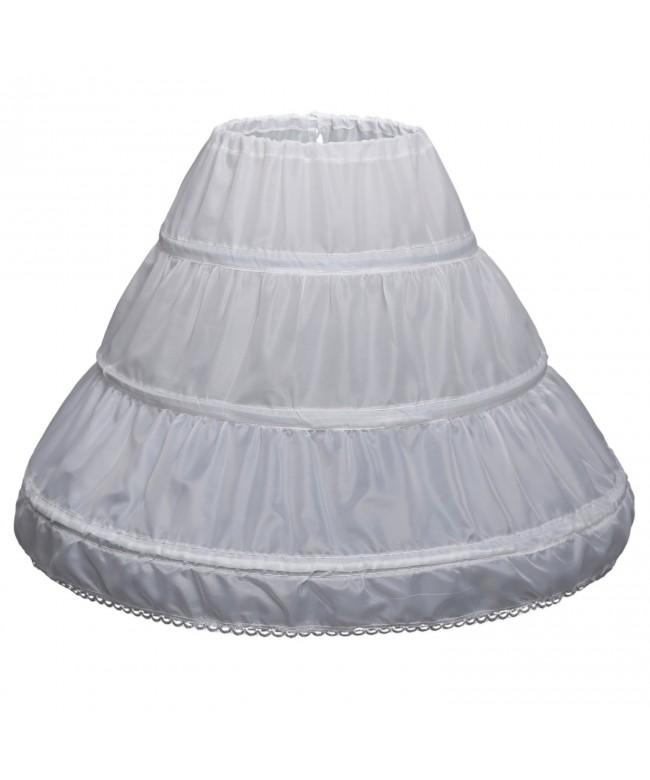 Abaowedding Girls Petticoat Flower Crinoline