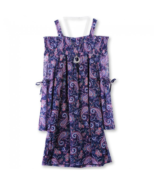 Speechless Girls Shoulder Chiffon Dress