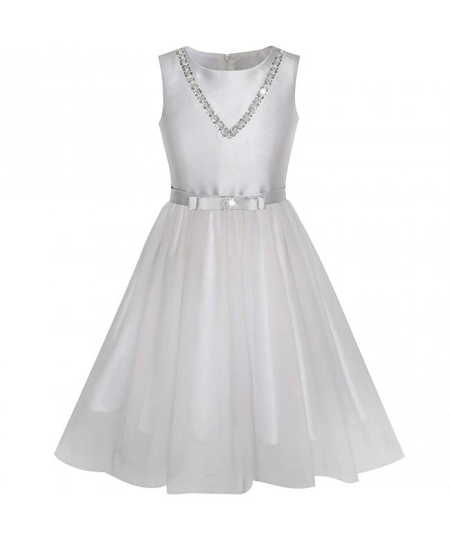 Sunny Fashion Silver Sequin Princess