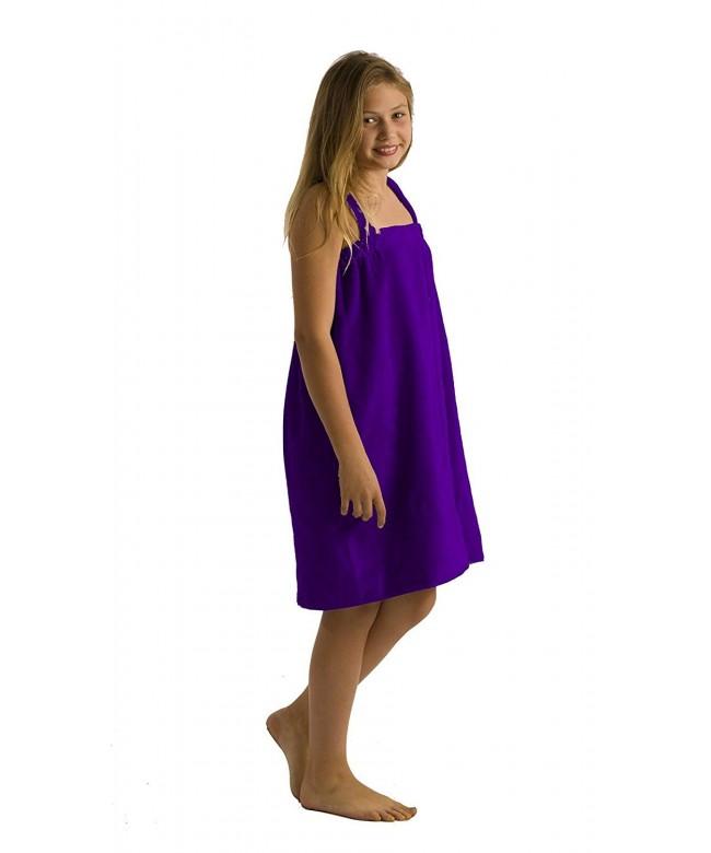 robesale Terry Cotton Purple Medium