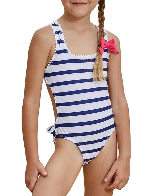 Aleumdr Nautical Stripes Swimwear Swimsuit