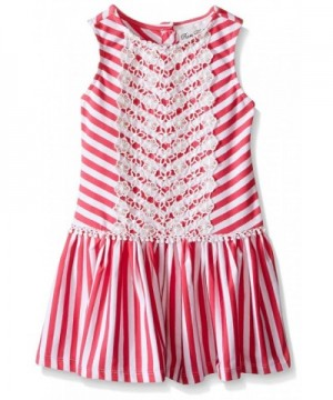 Rare Editions Girls Striped Dress