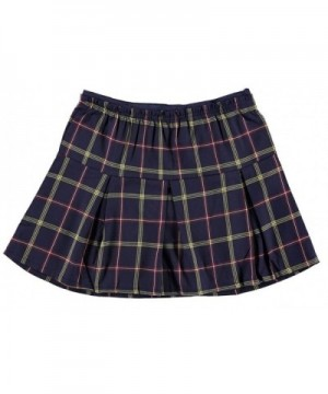 Girls Pleated Plaid Attractive Colors