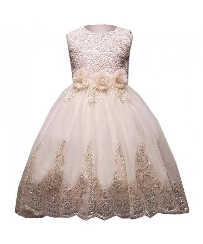 VIKITA Ruffles Wedding Flower Dresses