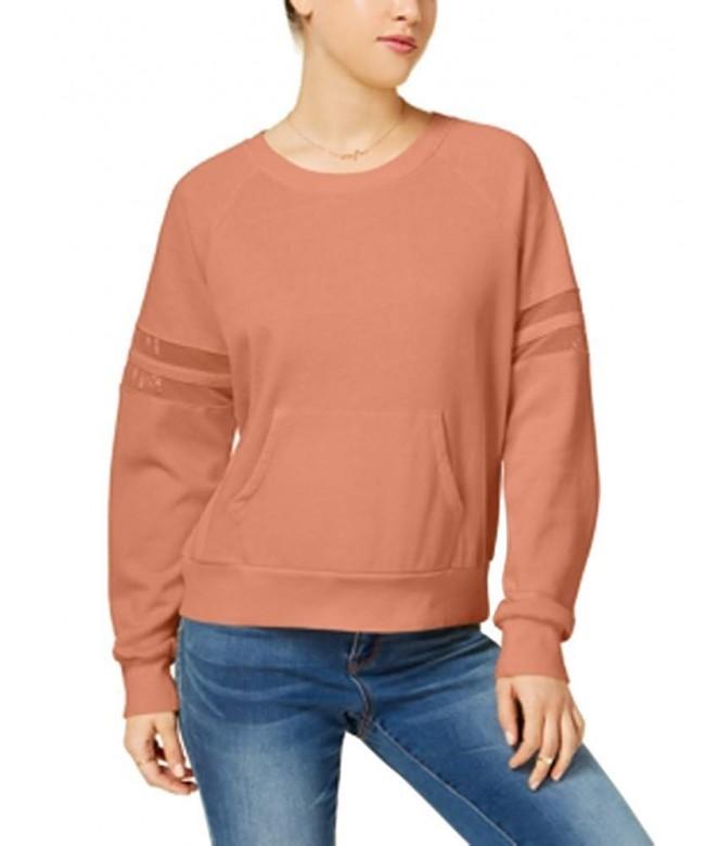 Hippie Rose Mesh Trimmed Pullover Sweatshirt