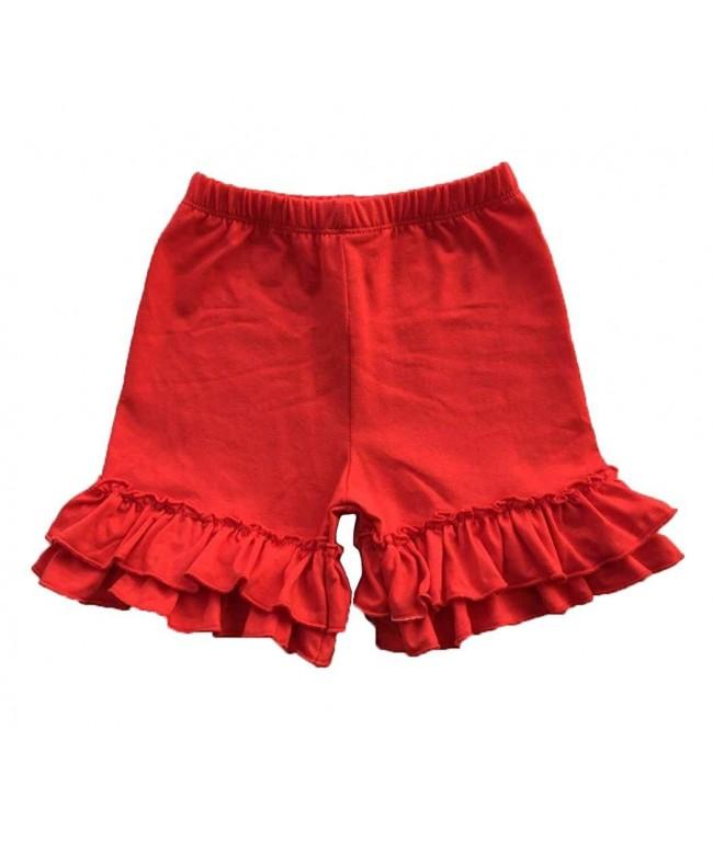 Coralup Little Ruffles Cotton Shorts